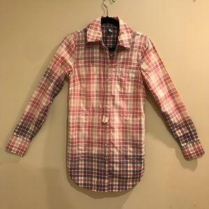 Free People Tunic Button Down Shirt W/Pockets Sz 4